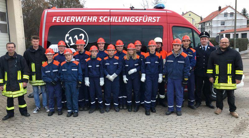 Oestheimer und Schillingsfürster Jugendwehr legten gemeinsam den Wissenstest ab