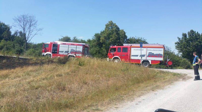 Flächenbrand bei Brunst (Stadt Leutershausen)