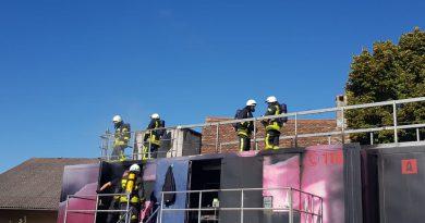 Brandcontainer bei der Feuerwehr Flachslanden