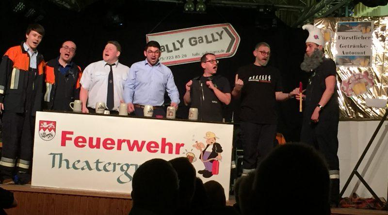 Blauhelmeinsatz in Schillingsfürst beim Feuerwehrball am 11.01.2020