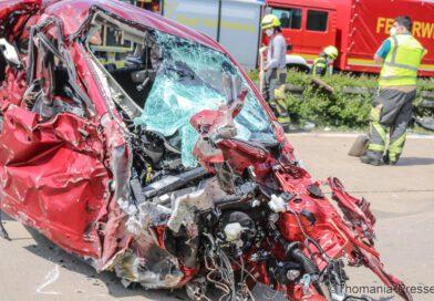 Geisterfahrer verursachte schweren Verkehrsunfall
