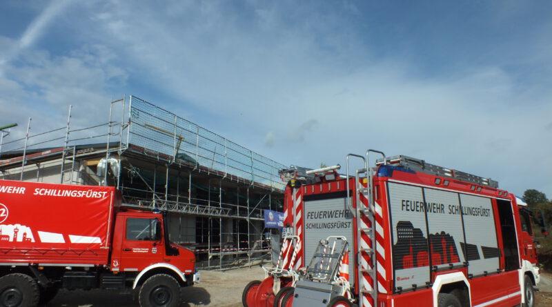 Richtfest für das neue Feuerwehrhaus in Schillingsfürst gefeiert.